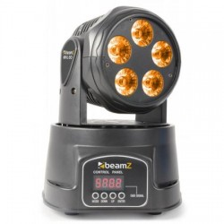 BeamZ Testa mobile MHL-90 Wash 5 x 18W 6 in 1 DMX RGBWA-UV