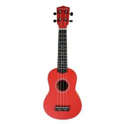 PURE TONE SOPRANO UKULELE RED PACK