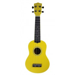 PURE TONE SOPRANO UKULELE YELLOW PACK